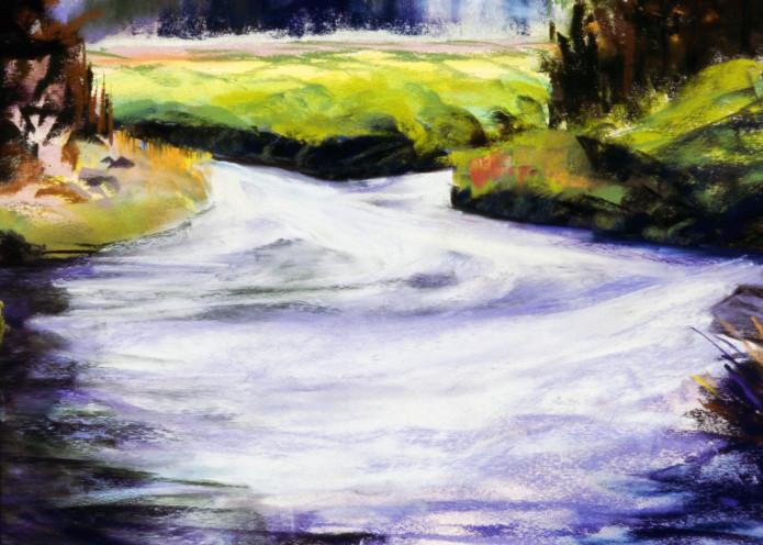 landscape paiinting central oregon cascade lakes