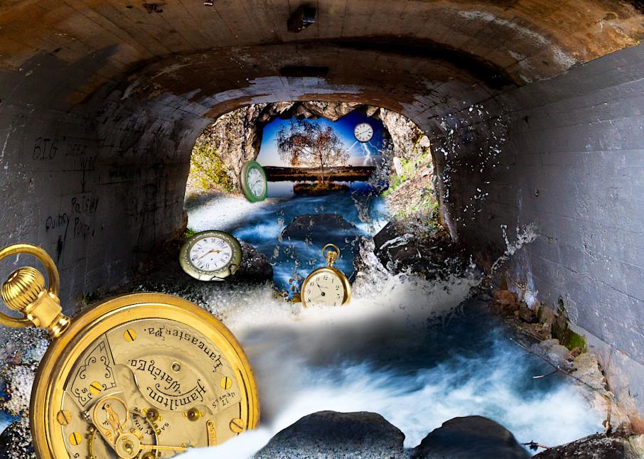 Time Swept Away, Surreal art, Vincent DiLeo, Clock Art