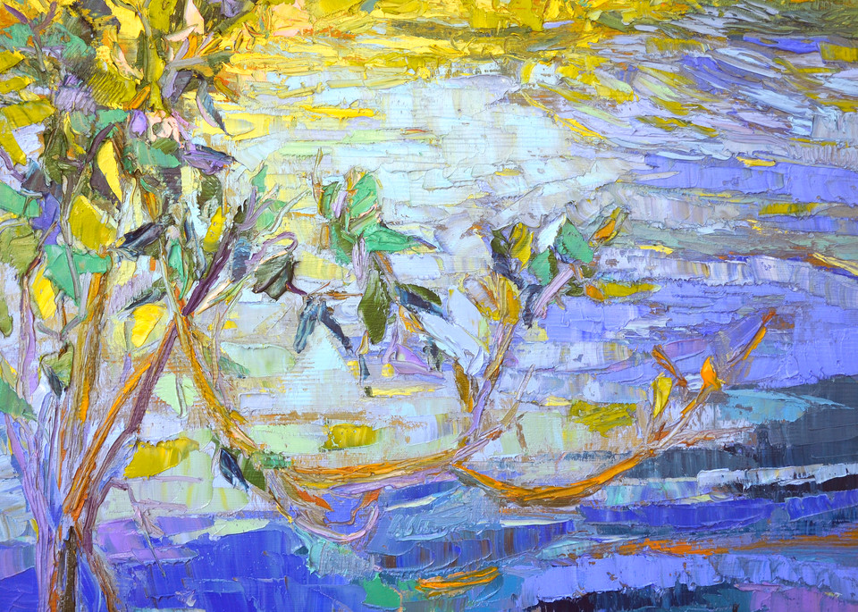 Contemporary Water Reflections Art Print on Canvas, by Dorothy Fagan