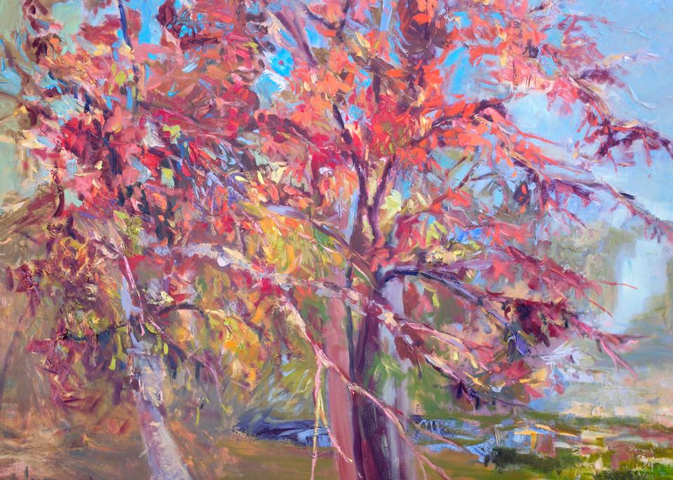 Large Abstract Tree Art Print Painting by Dorothy Fagan