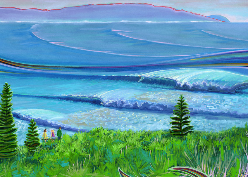 Lennox Head Painting by Spencer Reynolds