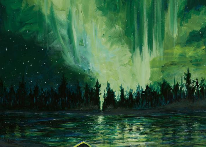 Northern lights in British Columbia