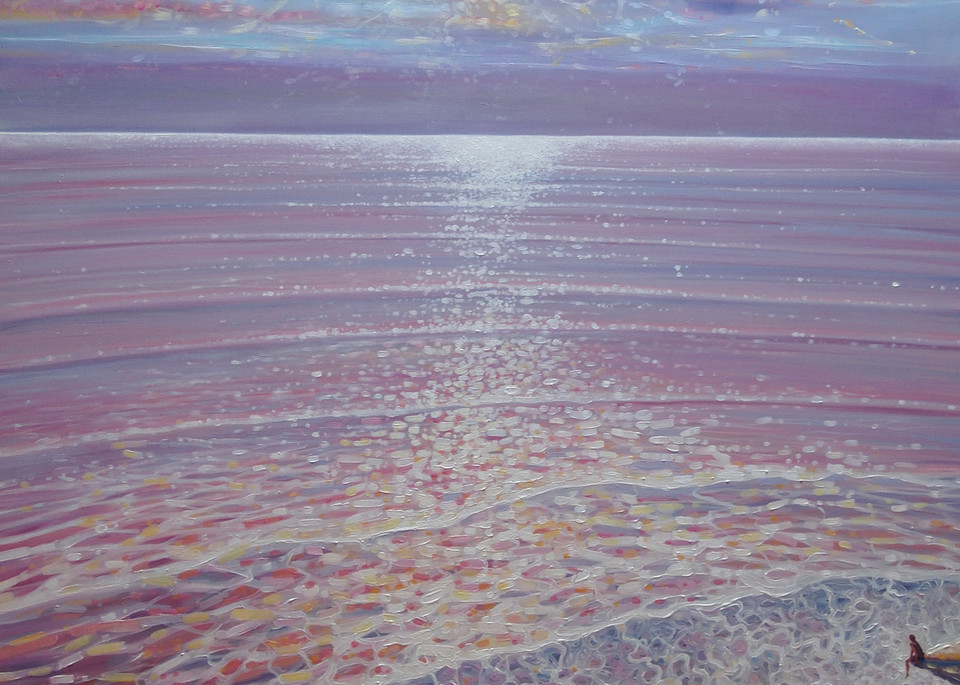 sunset seascape painting