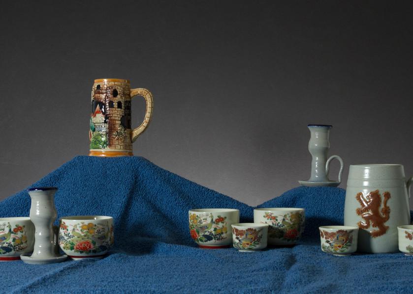 A Fine Art Photograph of Mugs and Chinaware by Michael Pucciarelli