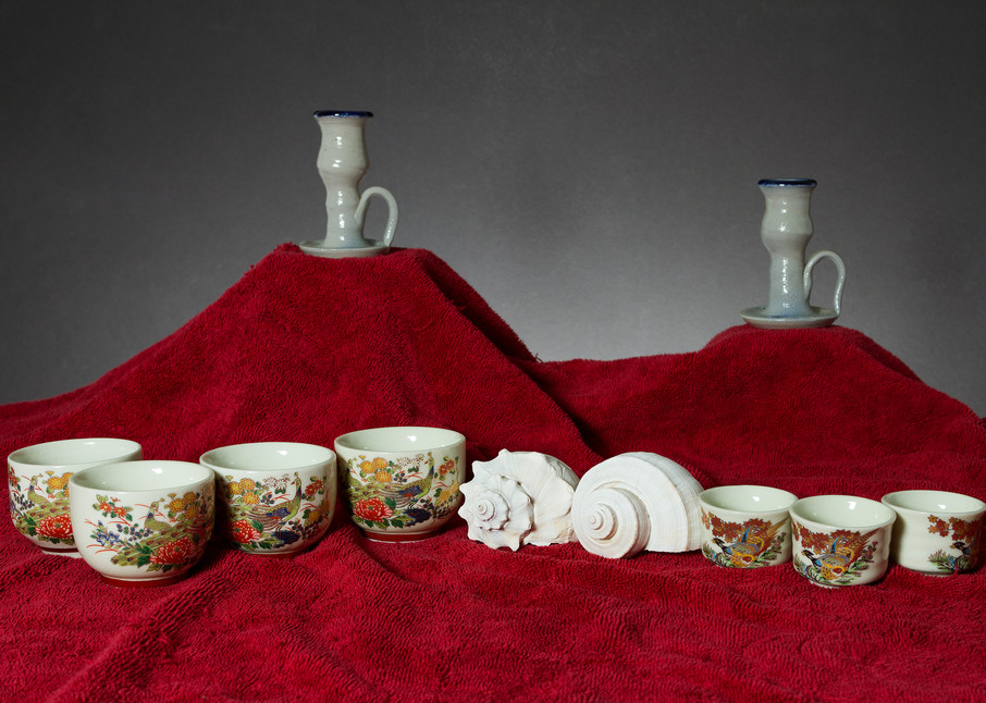 A Fine Art Photograph of Mugs with Chinaware by Michael Pucciarelli