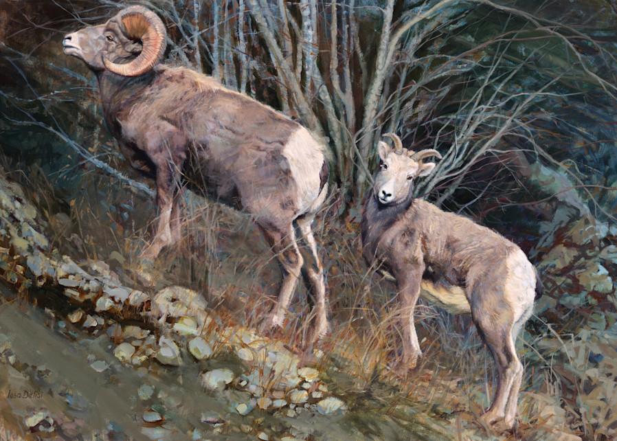 Mountain Couple Art | Lesa Delisi, Fine Arts
