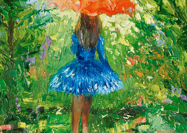 Colorful Umbrella Girl Prints to add fun to any room
