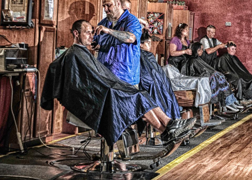 Ye Olde Barber Shoppe Art | Artist David Wilson