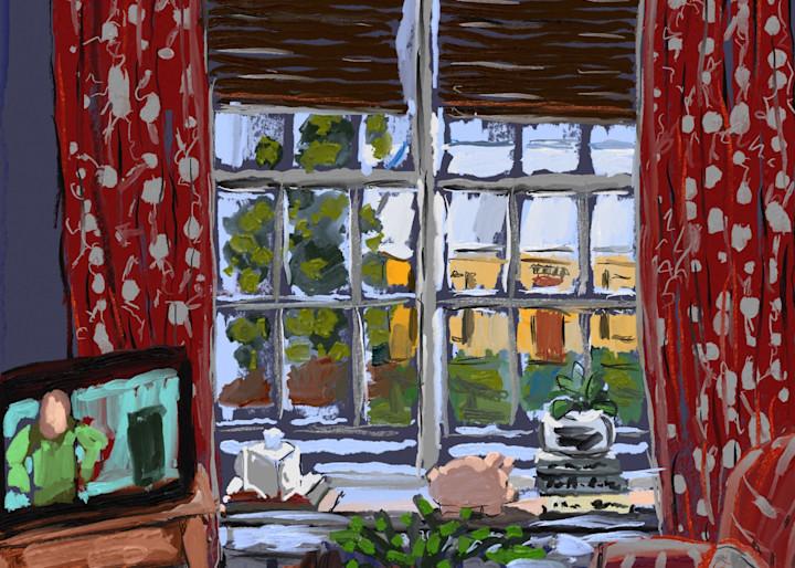 Red Den   Fine Art Digital Print Painting by Rick Osborn