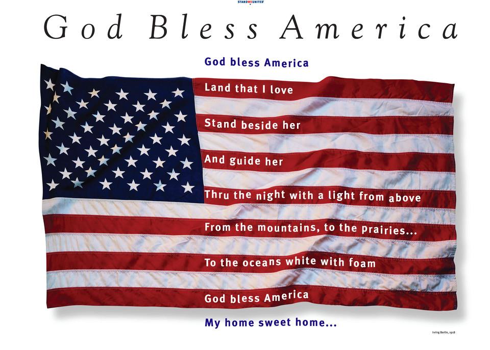 God Bless America Poster Print