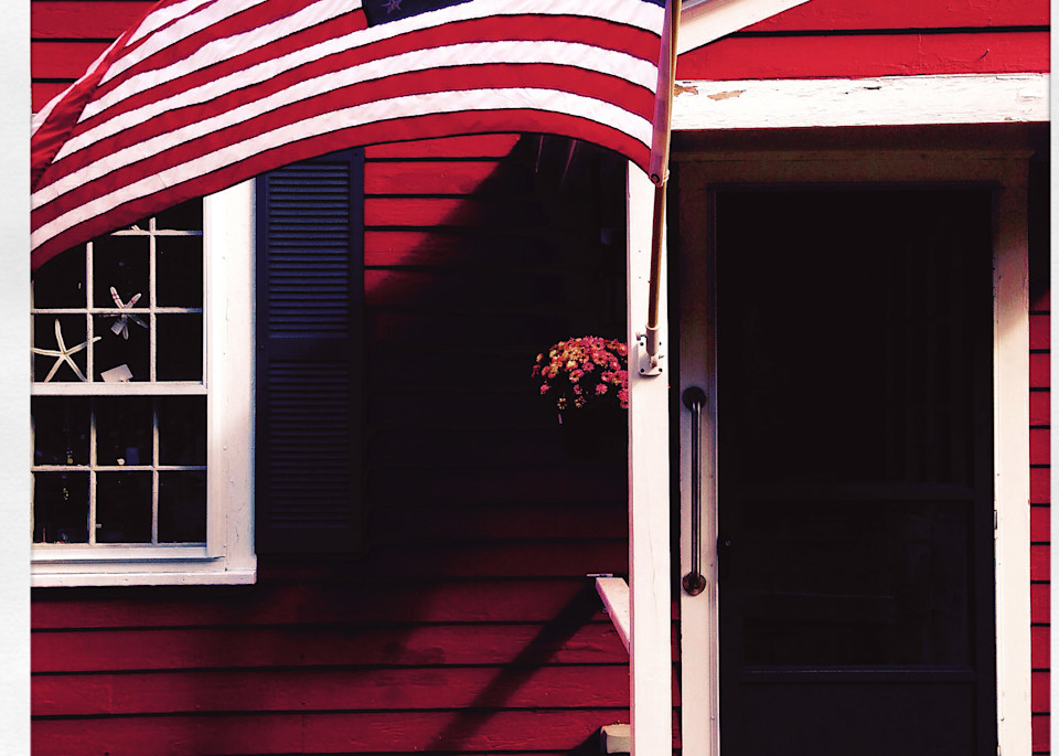 York Harbor Art Gallery & Flag Art Print