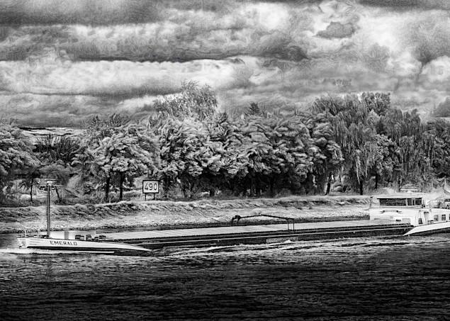 Rhine River Barge  Art | Peter J Schnabel Photography LLC