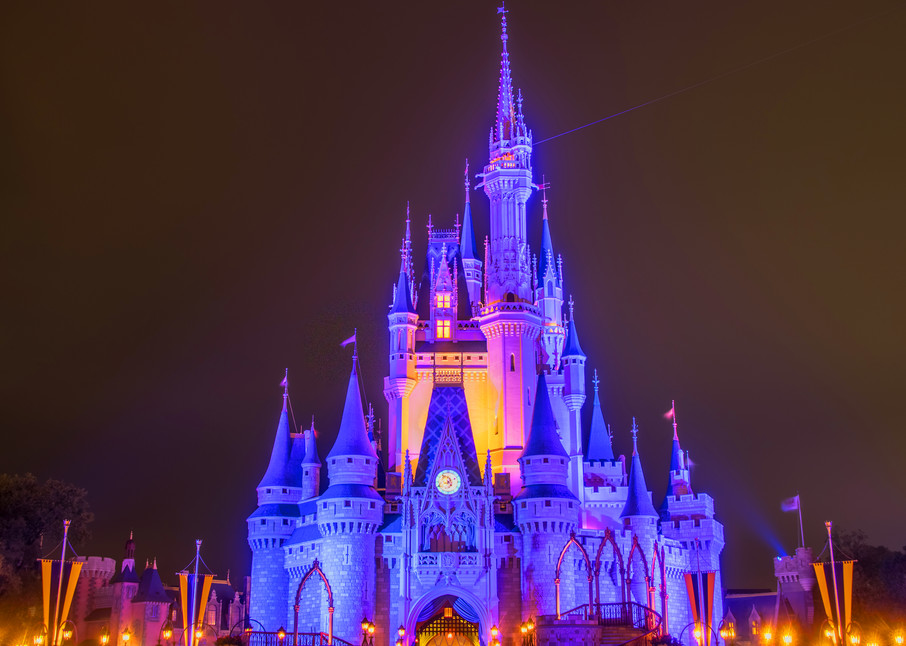 Cinderella's Castle at Night 1 - Disney Wall Art | William Drew
