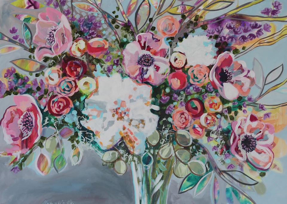 Blossoms Burst And Joy Overflows Art | Kristin Webster Art Studio