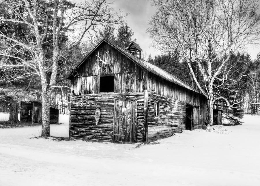 Adirondack Trapper's Barn Art | Michael Sandy Photography