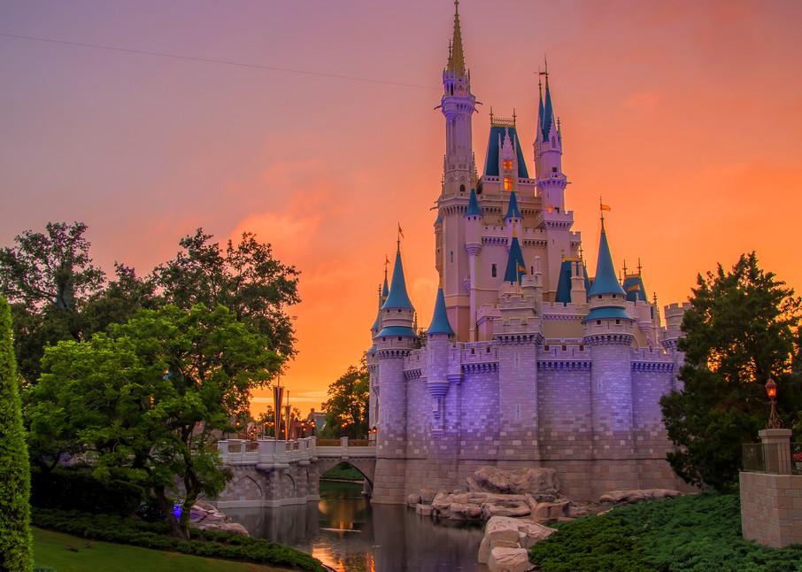 Cinderella's Castle Sunset - Disney Canvas Art | William Drew