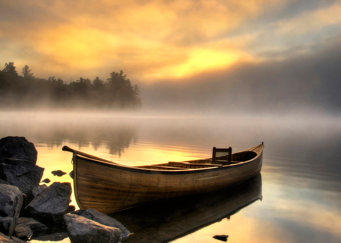 Adirondack Carry Canoe Art | Michael Sandy Photography