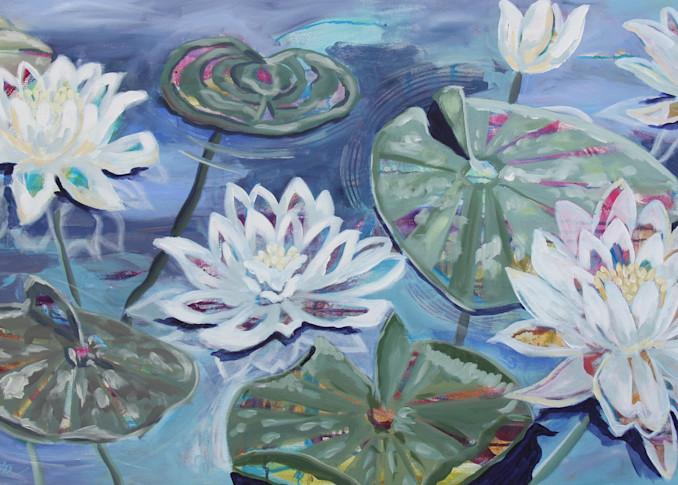 Lillies Of The Lake Art | Kristin Webster Art Studio
