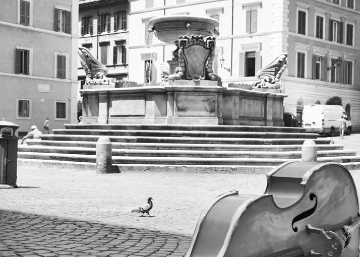 String Bass In Trastevere Art   Instrumental Art