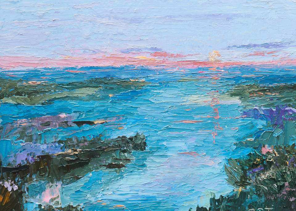 The Marsh At Sunset Art | Pamela Ramey Tatum Fine Art