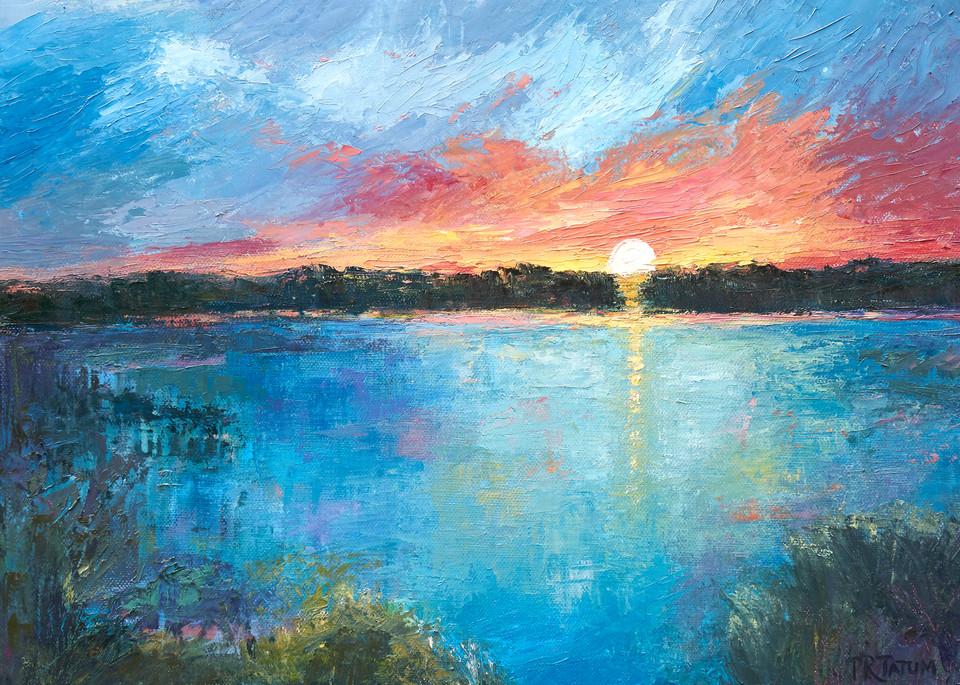 The Marsh At Sunset Ii Art | Pamela Ramey Tatum Fine Art
