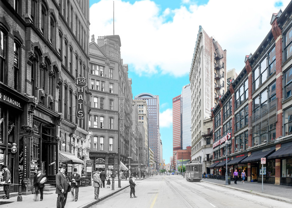 Liberty Avenue Looking West