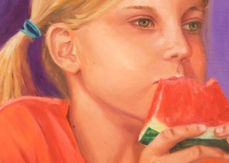 Lauren Eating Watermelon