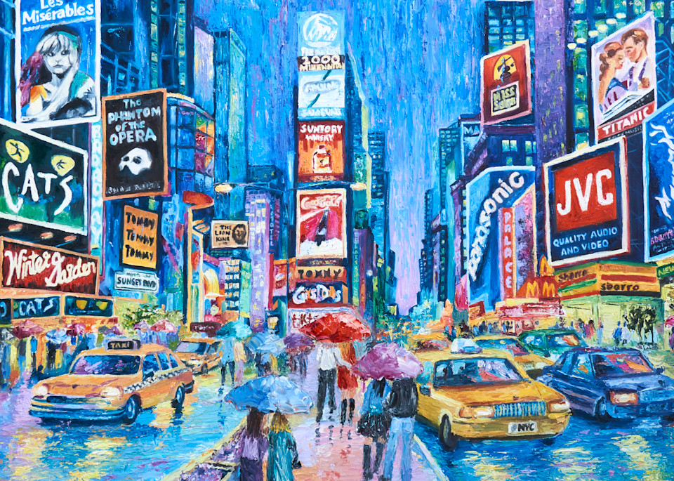 Lovers In Times Square Iv Art | Pamela Ramey Tatum Fine Art