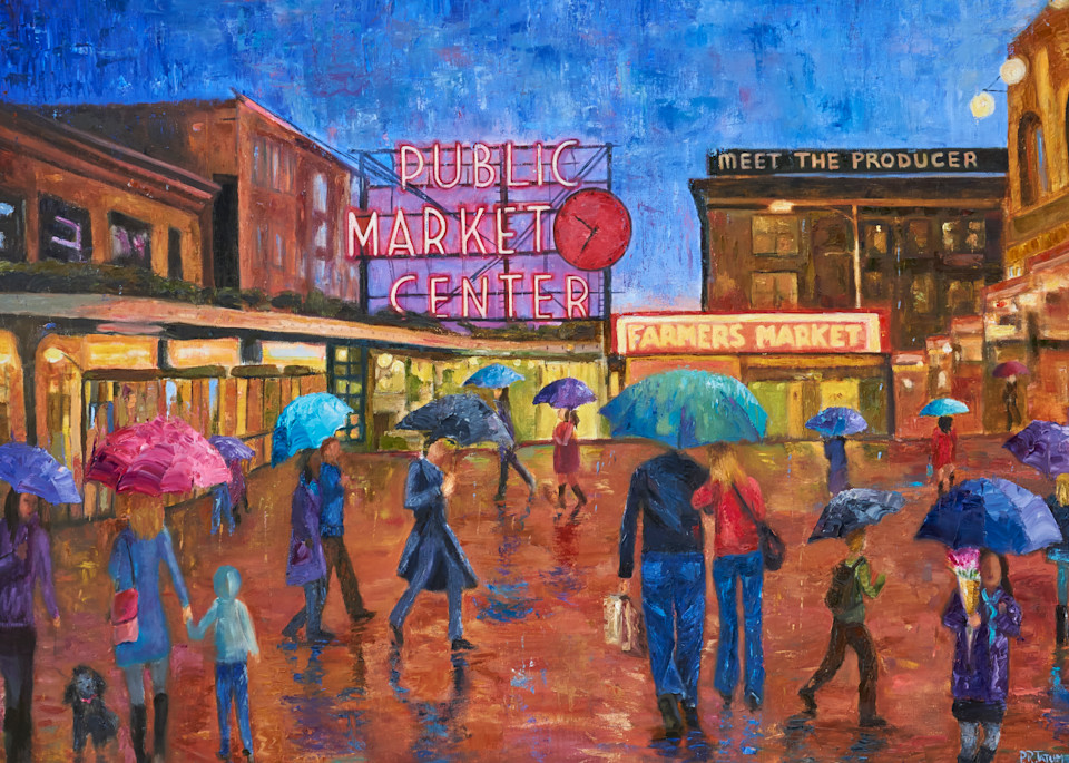 seattle, pikes-place-market, umbrella-art