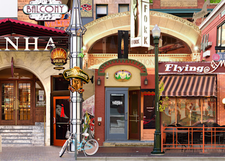 Boise Idaho historic Street Talk - Collage - Fine Art Prints on Metal, Canvas, Paper & More By Kevin Odette Photography