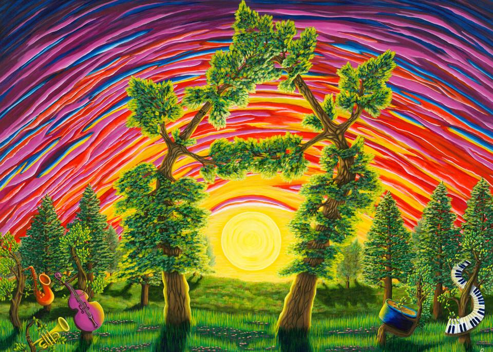 Dance Of Sunset Art   Northwest Image