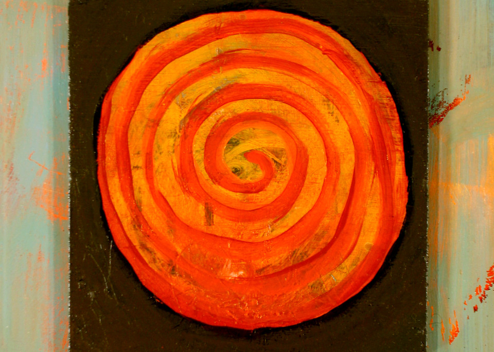Orange Orb, by Jenny Hahn