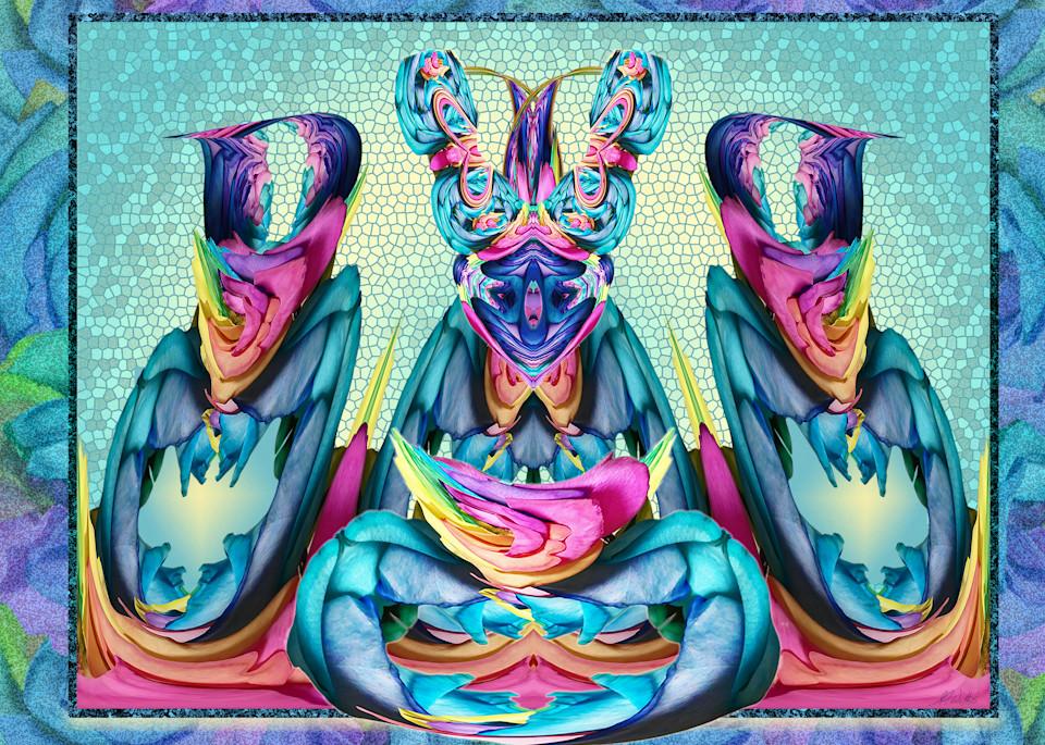 Rose Meditation print of photograph transformed into digital art for sale by Maureen Wilks
