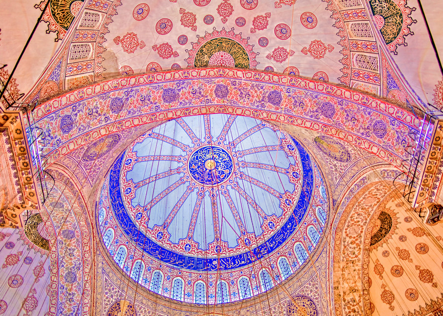 Blue Mosque Ceiling III | Travel Art Photography Print