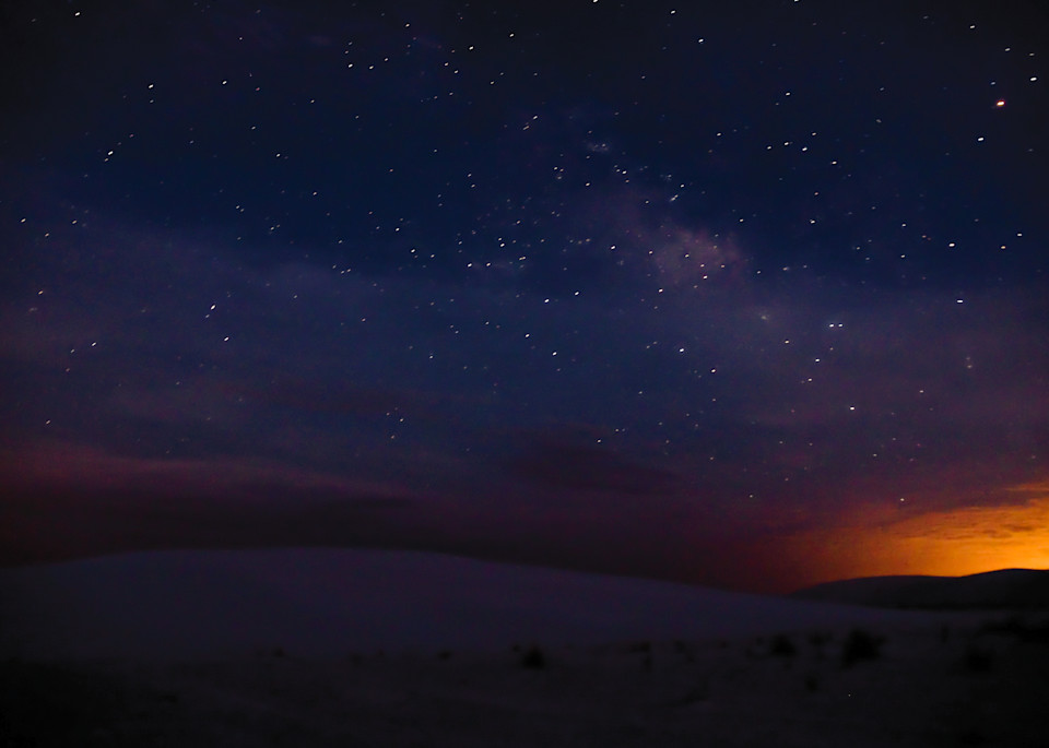 White Sands Starry Night | Full Moon Photography Print