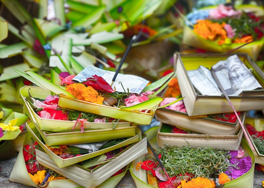 Balinese Offerings   Nature Art Photography