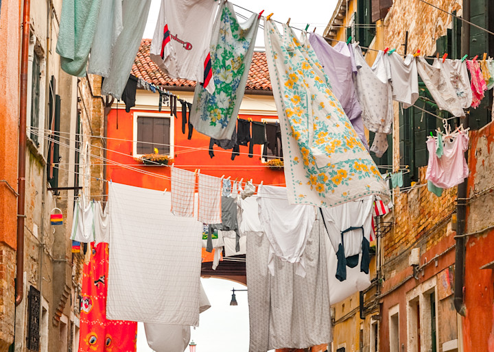 Venice Laundry Photography Print | Gifts For Art Lovers