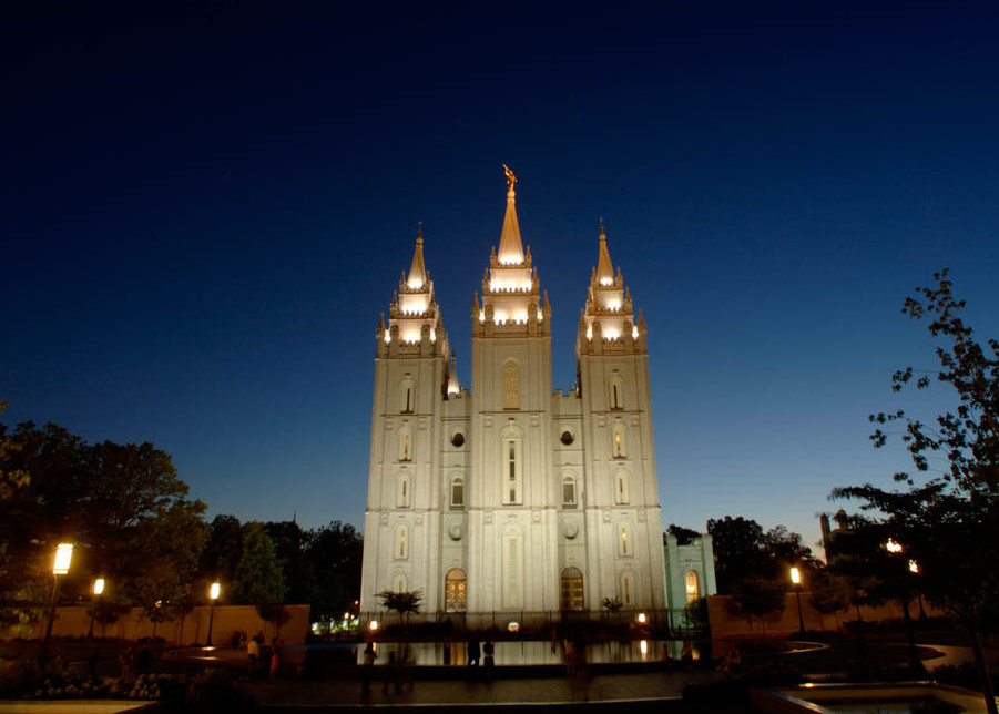 Salt Lake City Temple Reflecting Pool Landscape