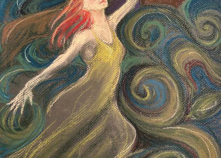 Elen of the Ways Celtic Goddess Art Print