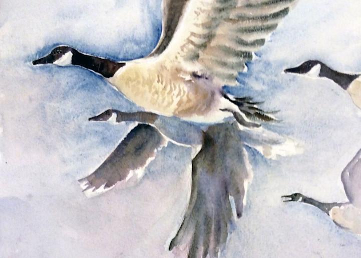 Flying Geese Art | Bright Spirit Studio