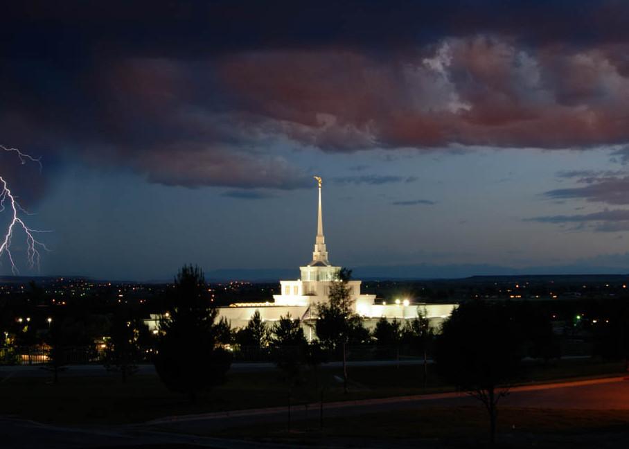 Billings Temple - Thunderstorm