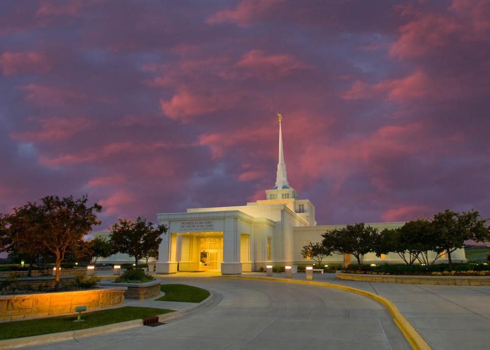 Billings Temple - Purple Clouds