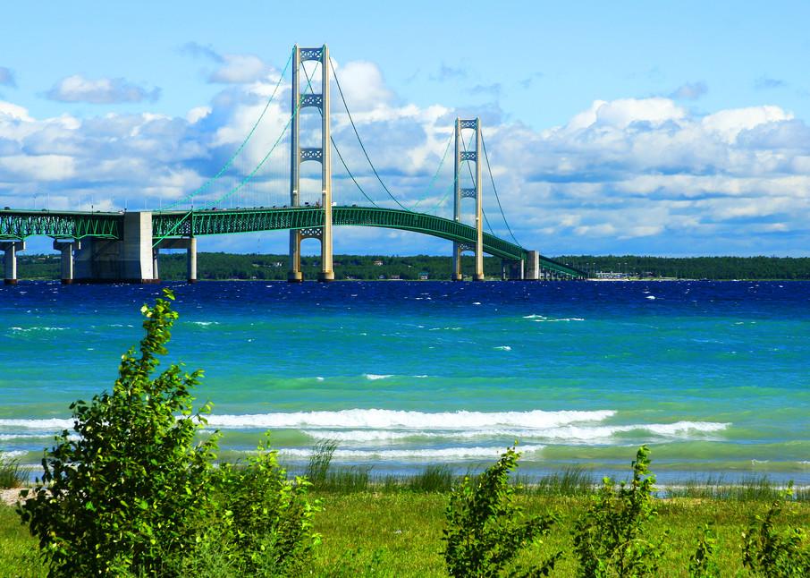 Mackinac Bridge Postcard - Michigan Photos   William Drew