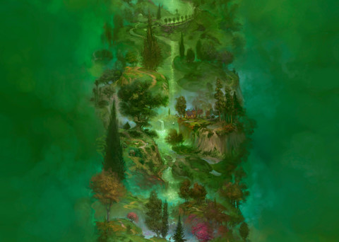 """""""BIG GREEN TREE of LIFE,"""" by Burton Gray, an epic landscape"""