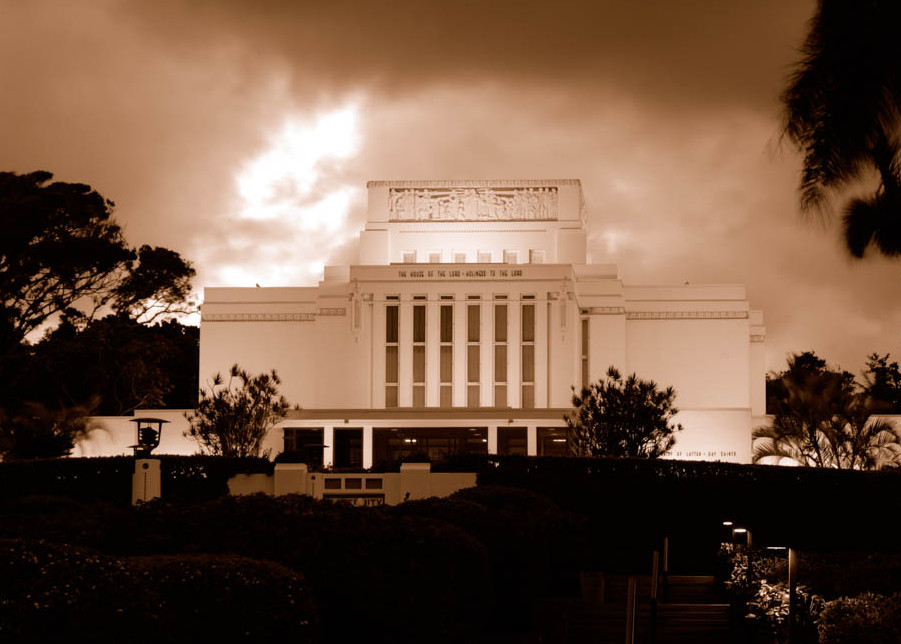 Laie Temple - Sepia