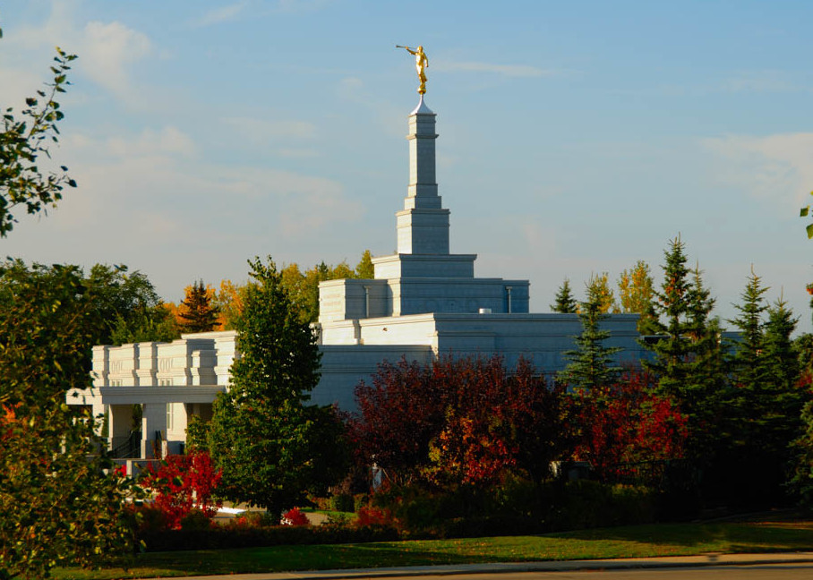 Edmonton Temple - Fall Colors