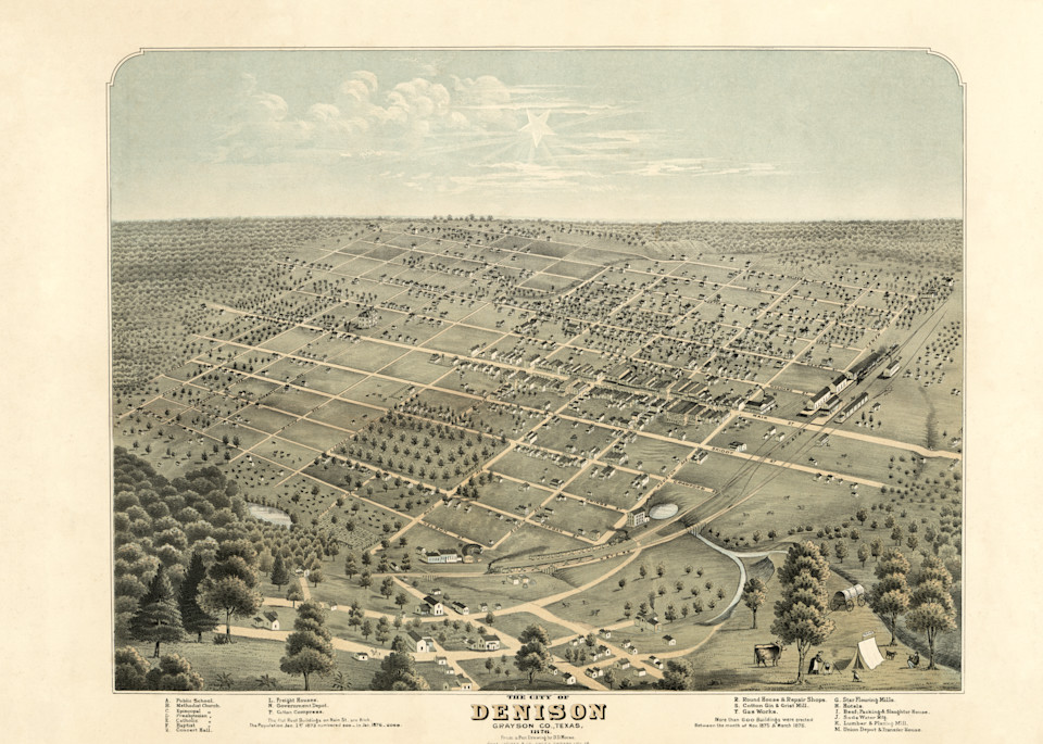 Denison Map   1876 Art | Randy Sedlacek Photography, LLC
