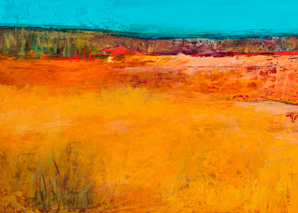Abstract Landscape Painting And Canvas Prints.