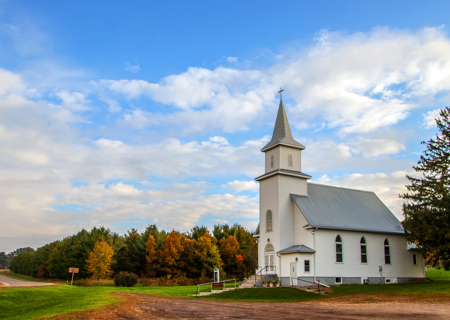 Country Church - Scenic Art | William Drew Photography