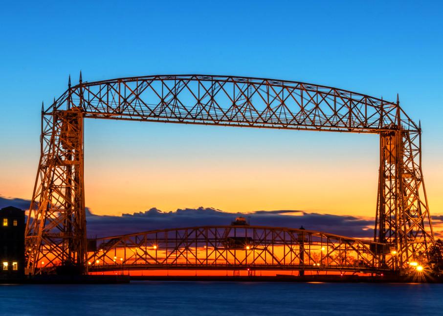 Duluth Lift Bridge Dawn - Bridge Photos | William Drew